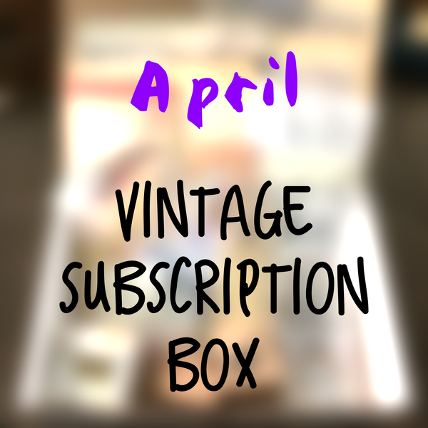 April planner 2020 stationery box - Vintage themed - YourCreativeStudio