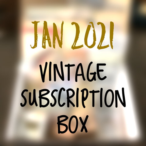 January planner 2021 stationery box - Vintage non-holiday themed - YourCreativeStudio