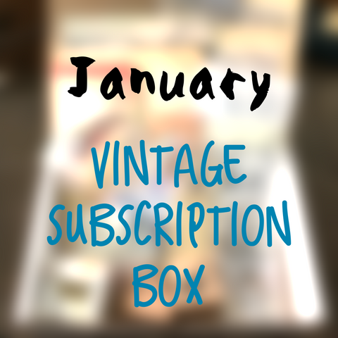 January planner stationery box - Vintage themed - YourCreativeStudio