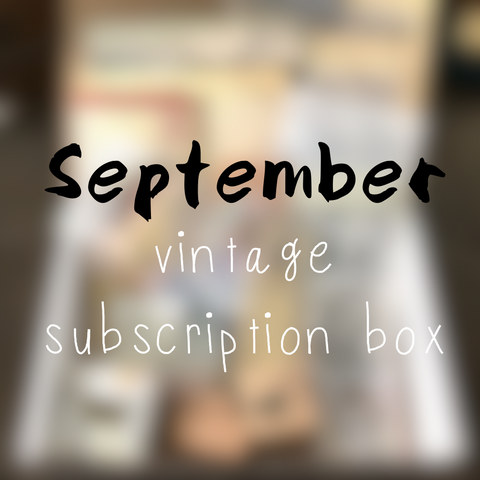 September planner stationery box - Vintage themed - YourCreativeStudio
