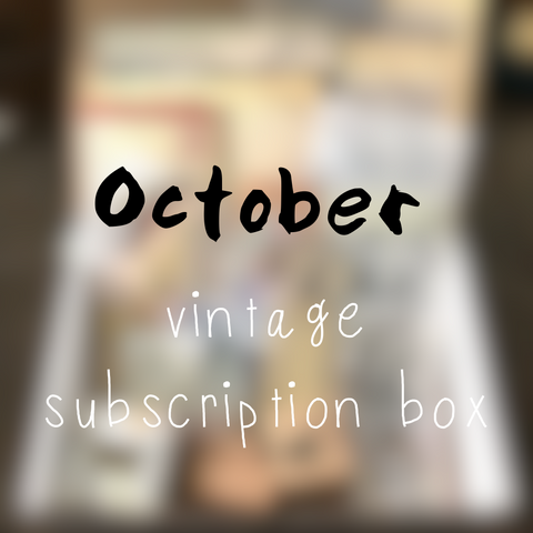 October planner stationery box - Vintage themed - YourCreativeStudio