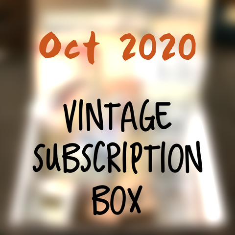 October planner 2020 stationery box - Vintage themed - YourCreativeStudio