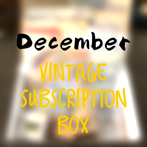 December planner stationery box - Vintage themed - YourCreativeStudio