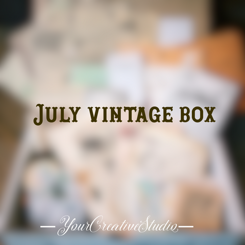 July planner stationery box - Vintage themed - YourCreativeStudio