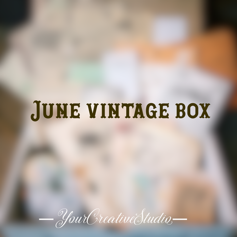 Time Travel - June planner stationery box - Vintage themed - YourCreativeStudio
