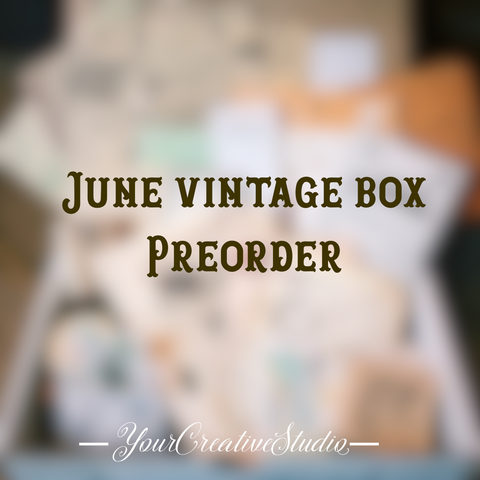 PreOrder Time Travel - June planner stationery box - Vintage theme - YourCreativeStudio