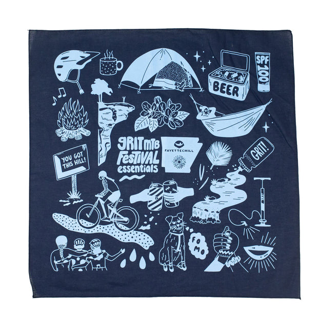 Grit Fest Bandana Accessories FAY Navy OS