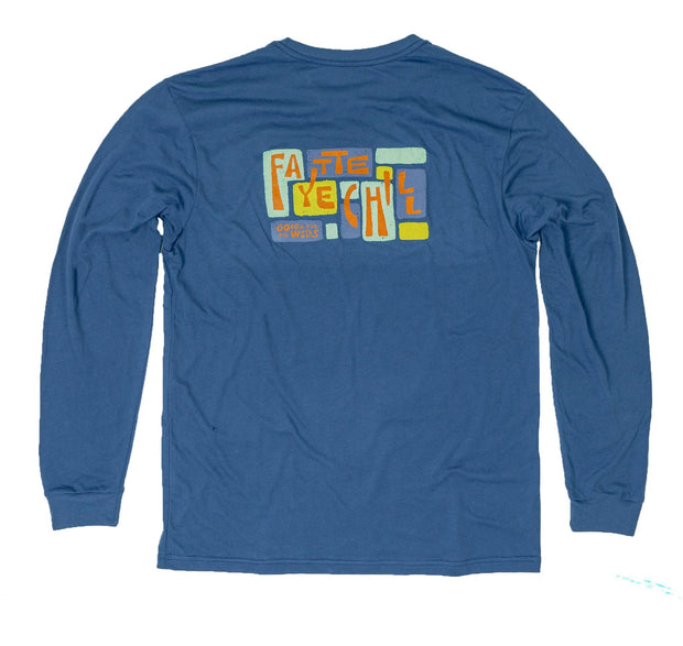 Delta Blues Unisex Long Sleeve T-Shirt FAY Glass Blue XS