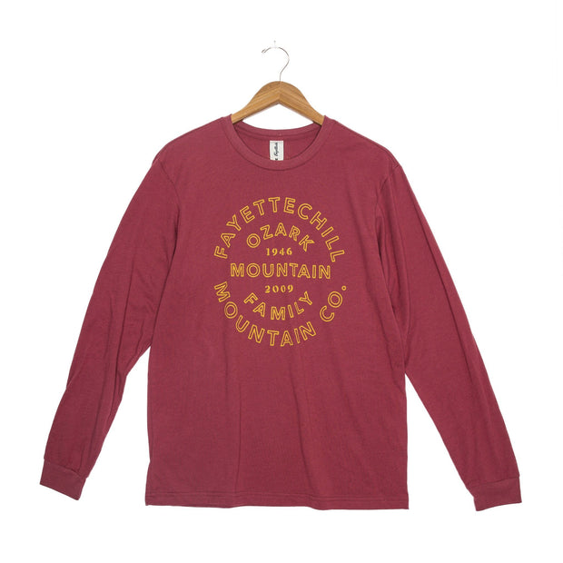 Heritage Unisex Long Sleeve T-Shirt - FW18 FAY Adzuki Red XS