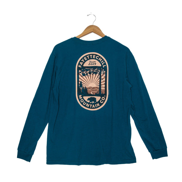 Backcountry Unisex Long Sleeve T-Shirt - FW18 FAY Tidal Teal XS