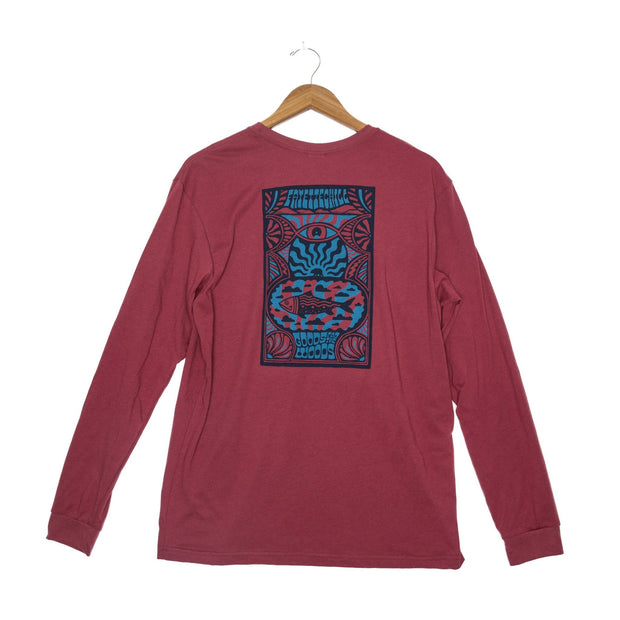 Day Tripp Unisex Long Sleeve T-Shirt - FW18 FAY Adzuki Red XS