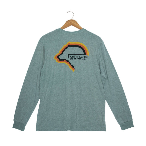 Tiller Bear Unisex Long Sleeve T-Shirt - FW18 FAY Heather Verdigris XS