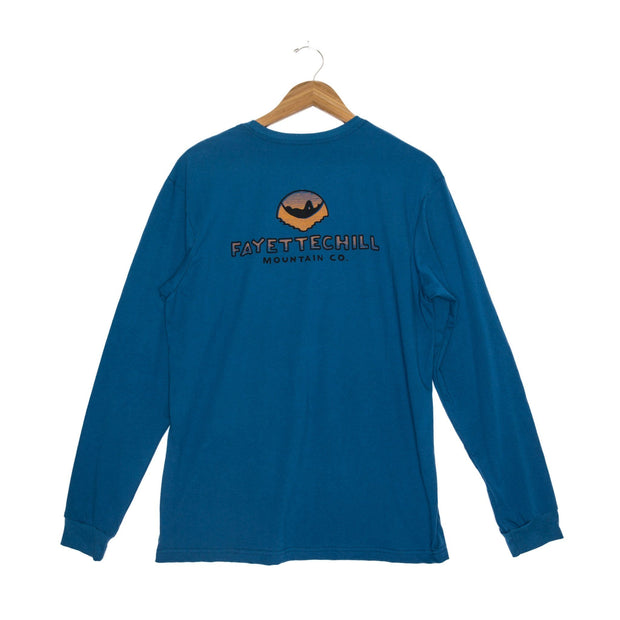 Sunset Hammock Unisex Long Sleeve T-Shirt - FW18 FAY Glass Blue XS