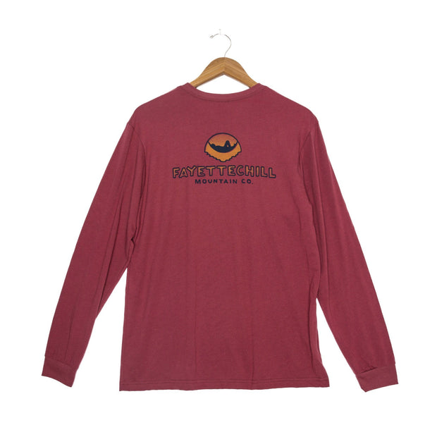 Sunset Hammock Unisex Long Sleeve T-Shirt - FW18 FAY Adzuki Red XS