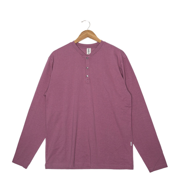 Calvin Hemp Unisex Long Sleeve T-Shirt - FW18 FAY Wistful Mauve XS