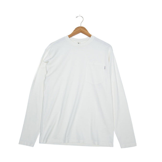 Tosh Hemp Unisex Long Sleeve T-Shirt - FW18 FAY Winter White XS