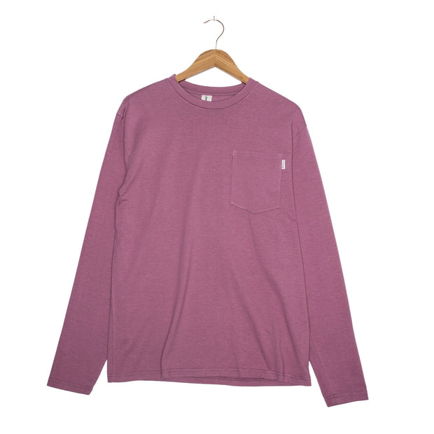 Tosh Hemp Unisex Long Sleeve T-Shirt - FW18 FAY Wistful Mauve XS