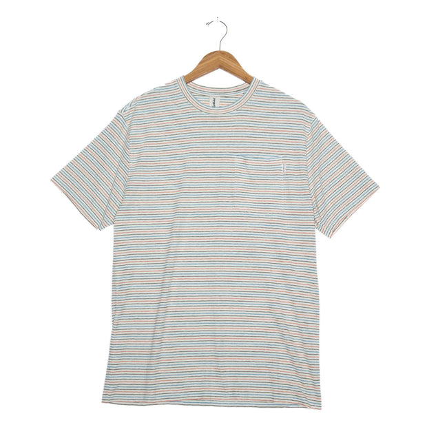 Nelson Hemp Unisex Short Sleeve T-Shirt - FW18 FAY Cream Stripe XS