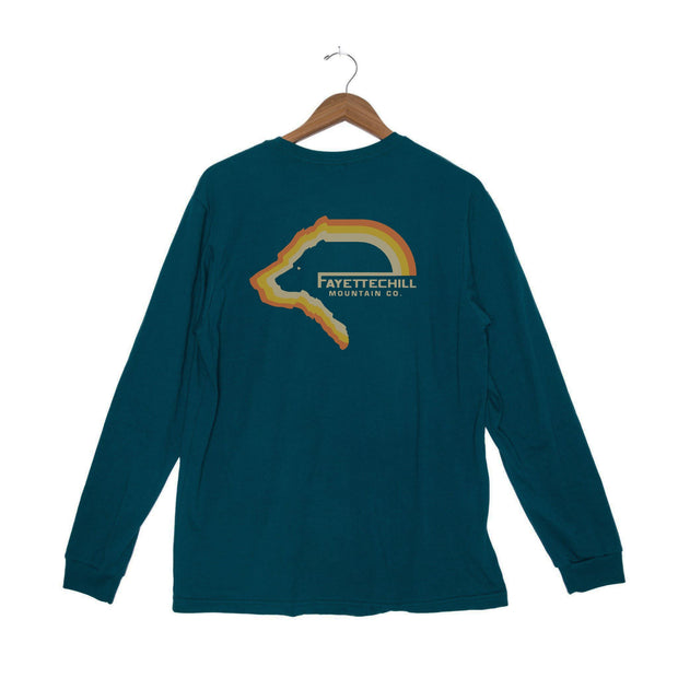 Tiller Bear Unisex Long Sleeve T-Shirt - FW18 FAY Tidal Teal XS