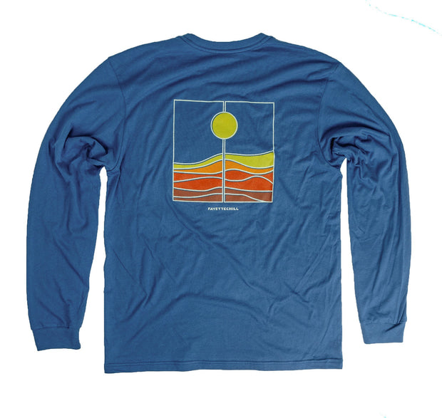 Harvest Unisex Long Sleeve T-Shirt FAY Glass Blue XS