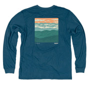 Hwy 45 Unisex Long Sleeve T-Shirt FAY Glass Blue XS