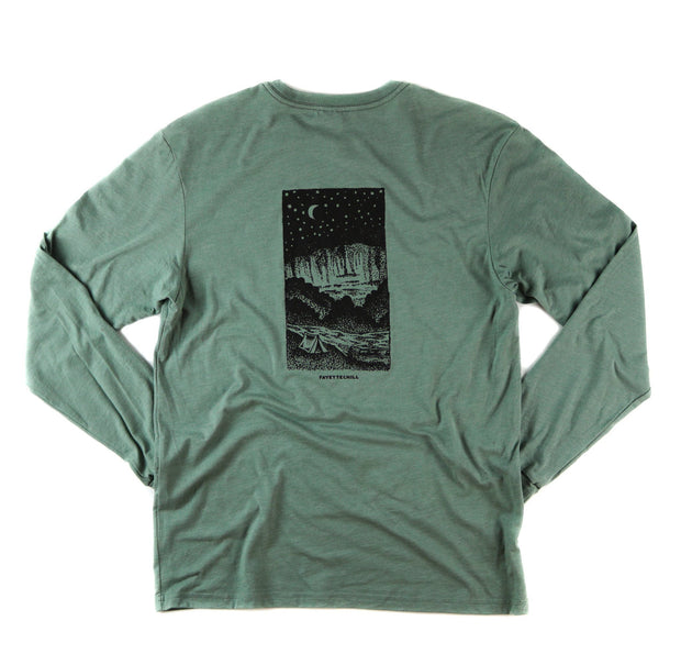 Campout Unisex Long Sleeve T-Shirt FAY Heather Verdigris XS