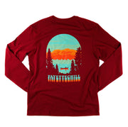 Afterglow Unisex Long Sleeve T-Shirt FAY Wax Red XS