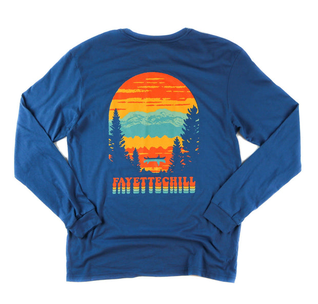 Afterglow Unisex Long Sleeve T-Shirt FAY Glass Blue XS