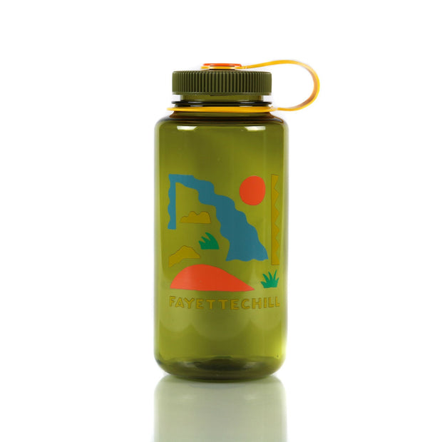 Nalgene Abstract Wide Mouth 32oz Olive