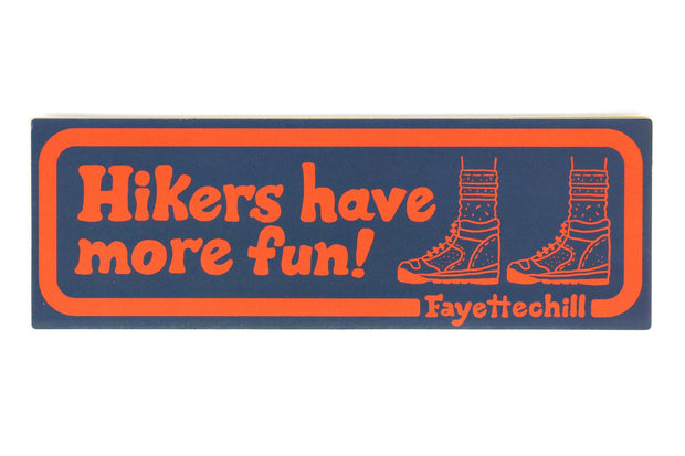 Hiker Enthusiast Sticker Sticker FAY