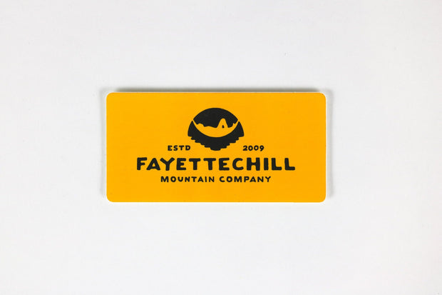 Yellow Ten Year Sticker Sticker FAY OS