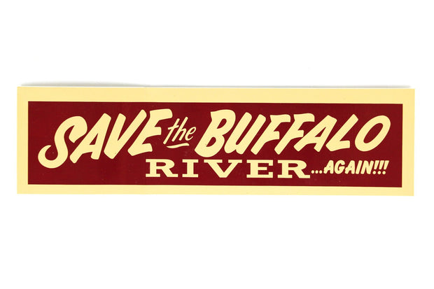 Save the Buffalo Sticker Sticker Fayettechill Clothing Company