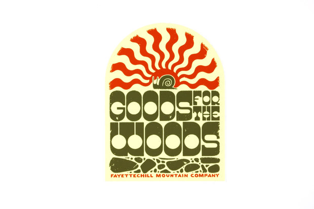 Goods for the Woods Sticker Sticker FAY