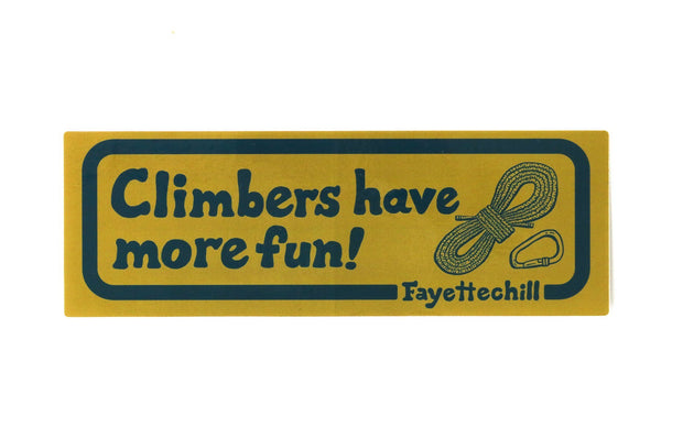 Climber Enthusiast Sticker Accessories FAY