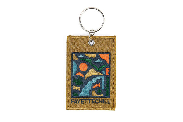 Abstract Keychain Patch Accessories FAY