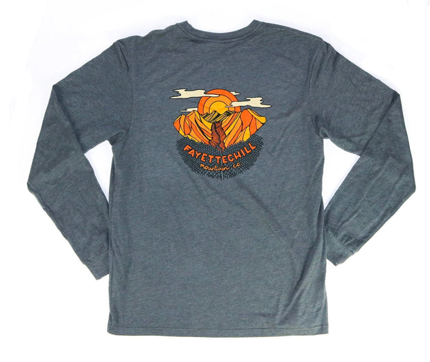 Alpenglow Unisex Long Sleeve T-Shirt FAY Heather Graphite XS