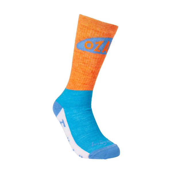 Ozarks Wool Sock Footwear FAY Orange/Blue S-M