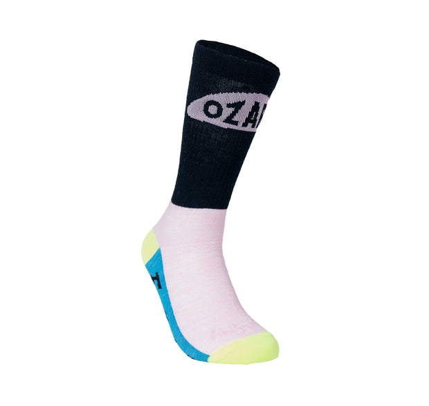 Ozarks Wool Sock Footwear FAY Pink/Black S-M