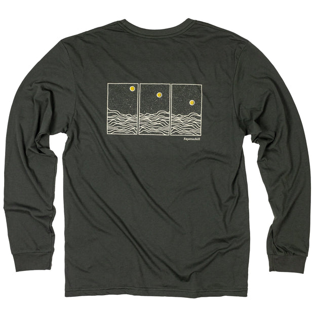 Phases Unisex Long Sleeve T-Shirt FAY Black Ink XS