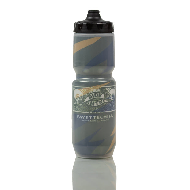 Ride Mtns Water Bottle Accessories FAY Jagged Green OS