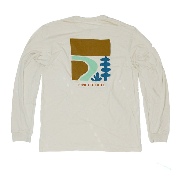 Rio Bend Unisex Long Sleeve T-Shirt FAY French Vanilla XS
