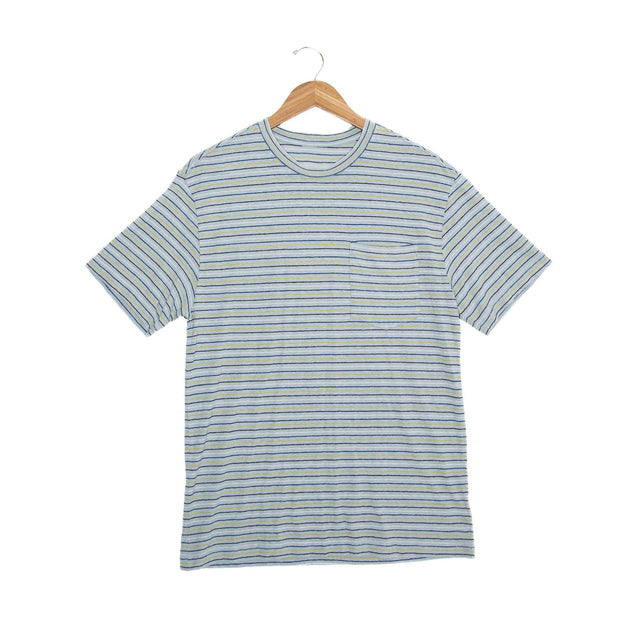 Nelson Hemp Unisex Short Sleeve T-Shirt - FW18 FAY Grey/Navy/White XS