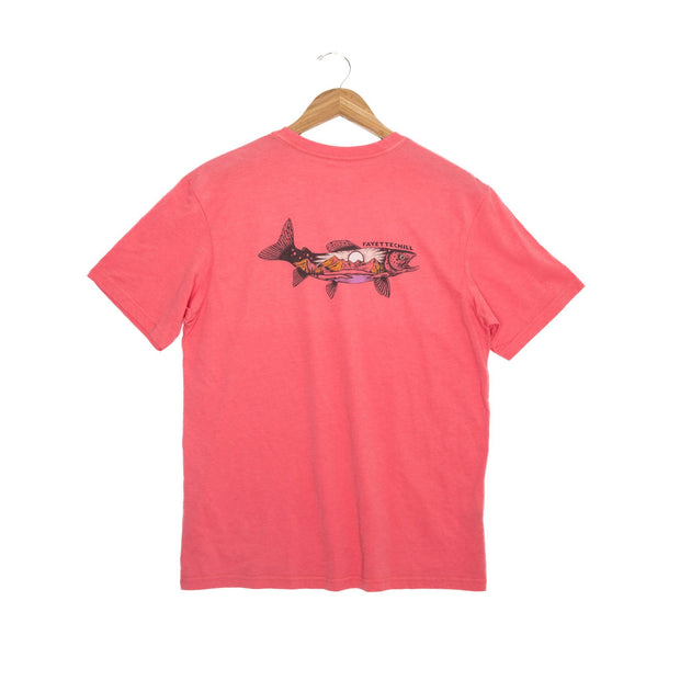 Mountain Trout Unisex T-Shirt FAY Coral XS