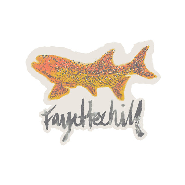 Fossil Fish Sticker
