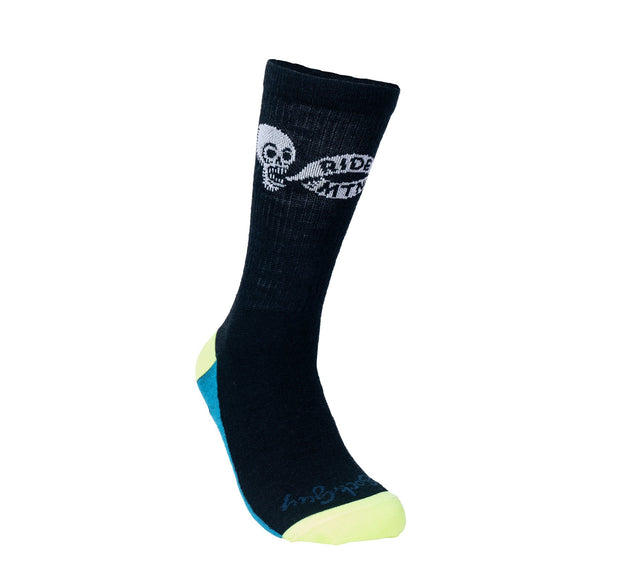 Ride Mtns Wool Sock Footwear FAY Black/Blue/Neon OS