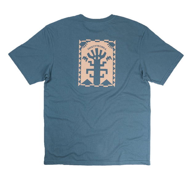 Wise Woods Unisex T-Shirt FAY Peak Blue XS
