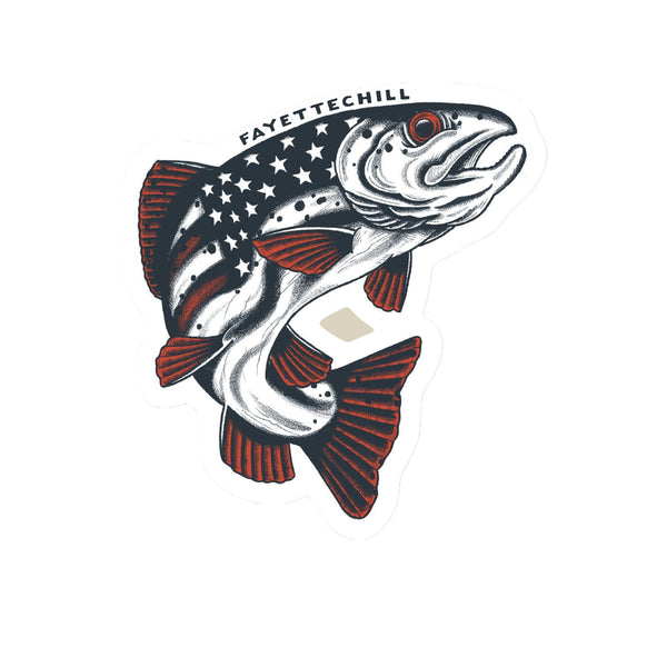 Americana Trout Sticker