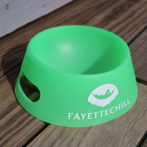 Silicon Dog Bowl, Hammock Logo