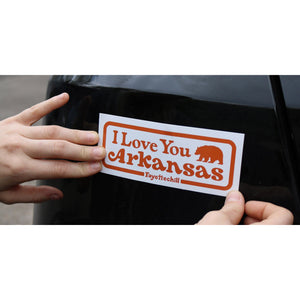 I Love You Arkansas Sticker