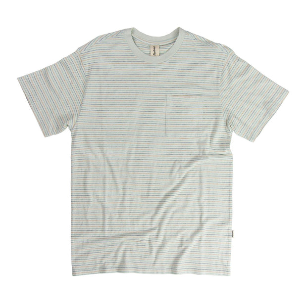 Nelson Hemp Unisex Short Sleeve T-Shirt - SS19 FAY Spa Blue Stripe XS